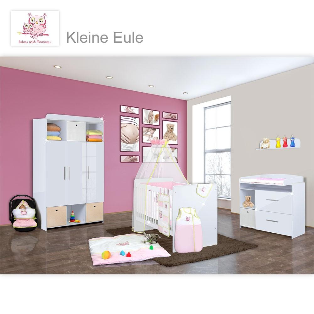 babyzimmer mexx in weiss hochglanz 22 tlg mit 3 t rigem. Black Bedroom Furniture Sets. Home Design Ideas