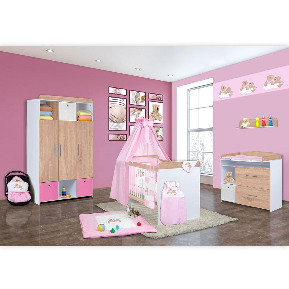 Babyzimmer mexx in sonoma 11 tlg mit 3 t rigem kl joy rosa ebay - Stoffe babyzimmer ...
