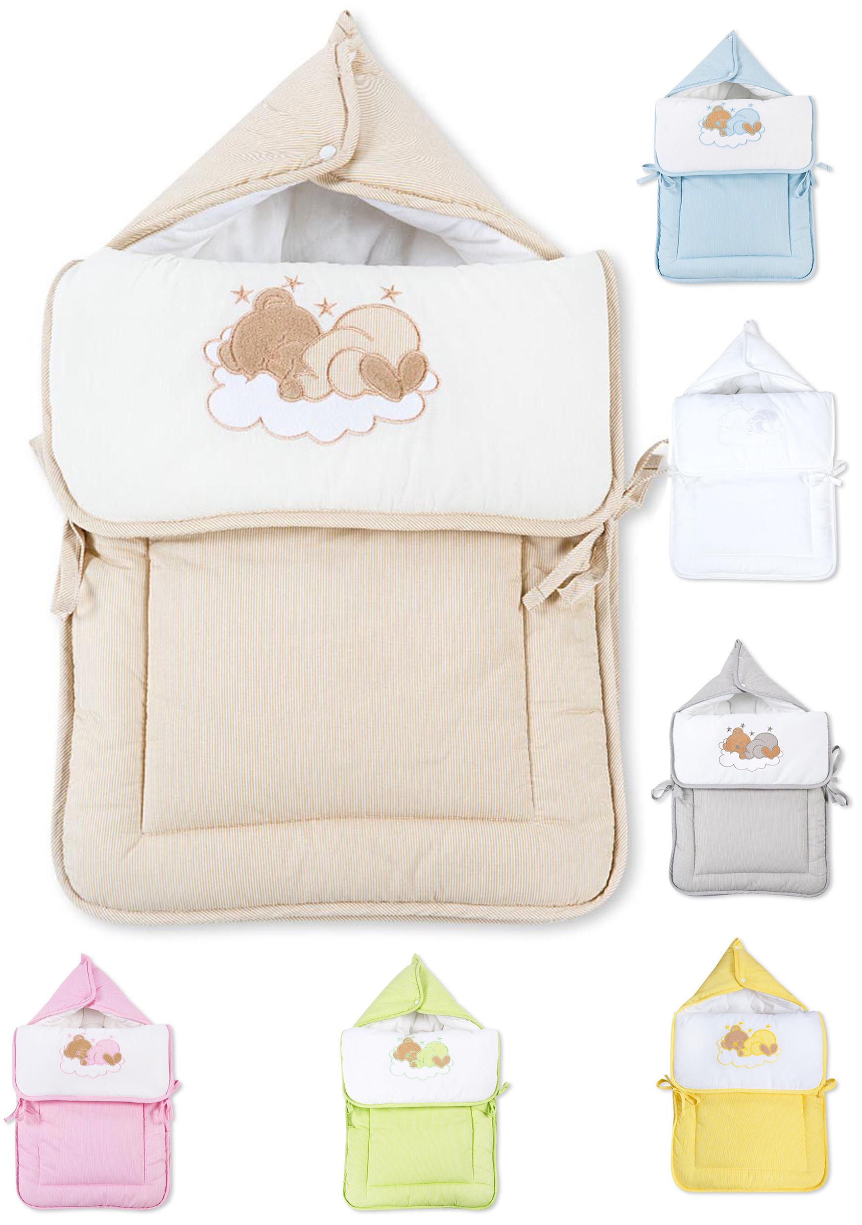 Fußsack Einschlagdecke Decke für Kinderwagen, Babyschale & Maxi Cosi Baumwolle