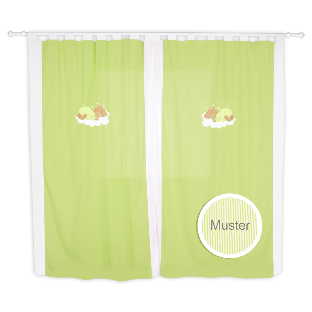 Babyzimmer Kinderzimmer Gardinen Vorhänge mit Schlaufen 5 Farben – Bild 6
