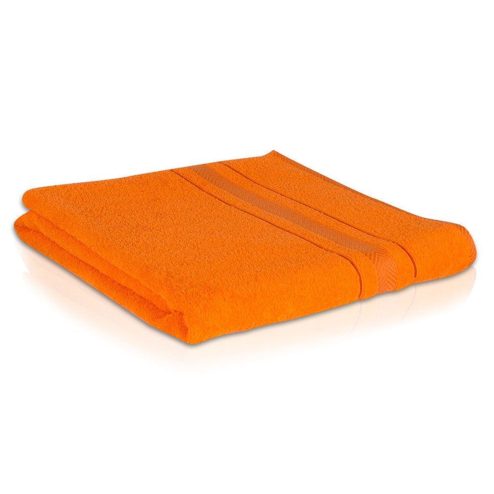 2 er SET ORANGE BADETUCH 500g/m² 100% BAUMWOLLE 100x150 – Bild 3