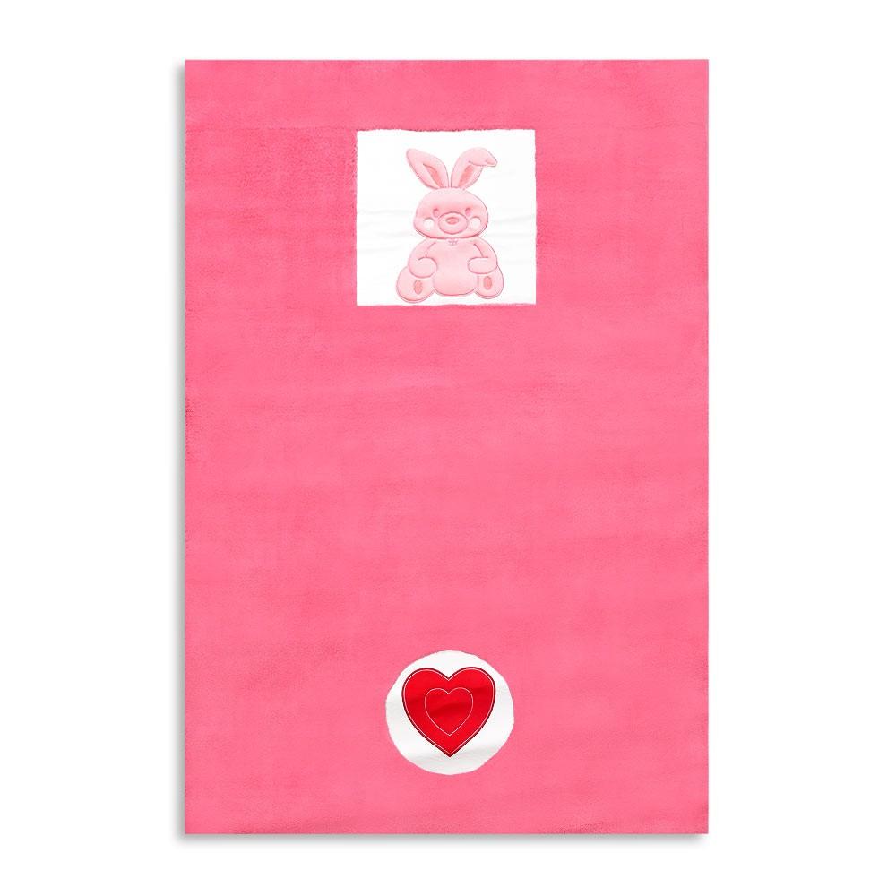 Babyzimmer Teppich Kinderzimmer Wellsoft Spielteppich  Pink Bunny, Hase 120 x 170cm