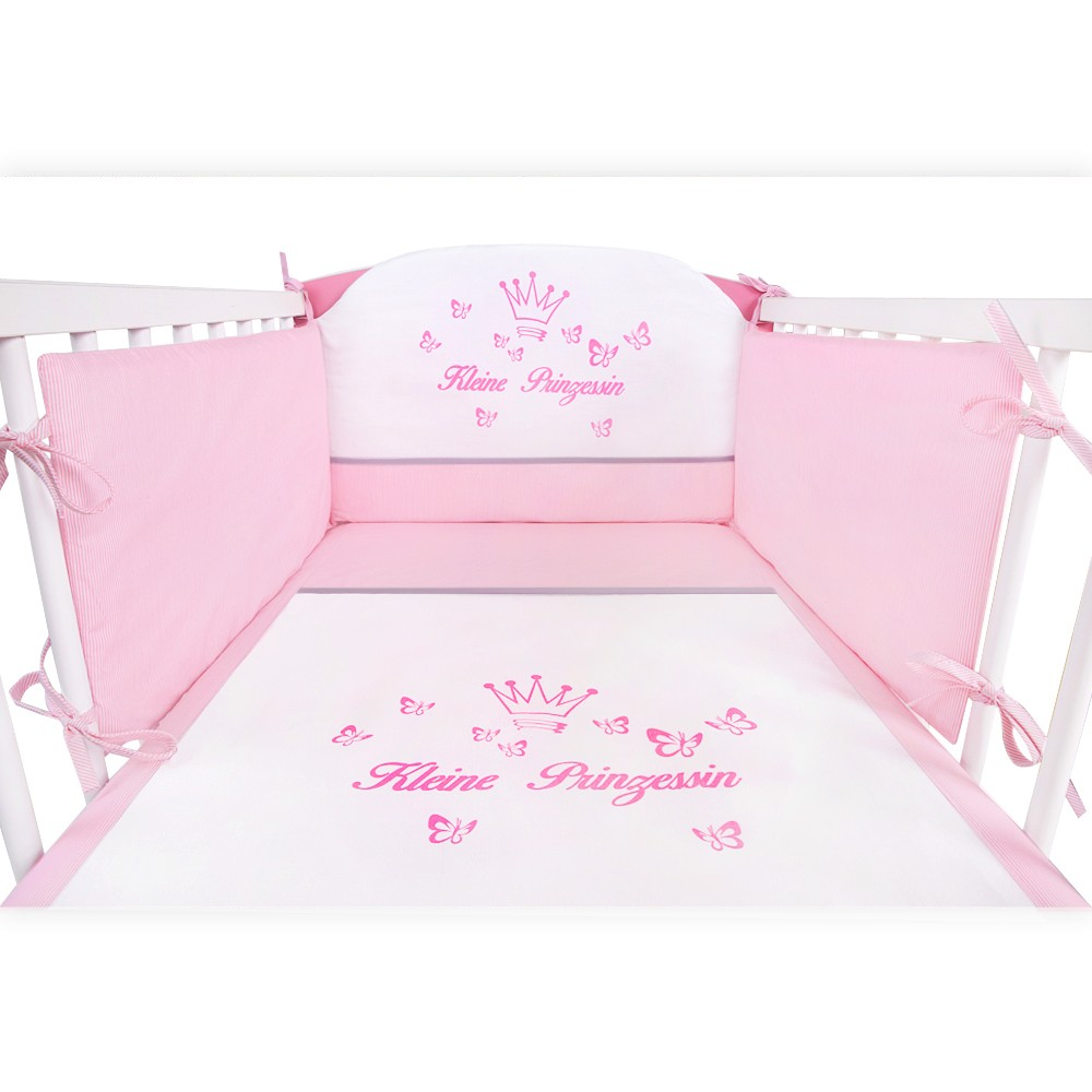 babybett kleine prinzessin 120x60 komplett set 11 kinderbett bettw sche matratze ebay. Black Bedroom Furniture Sets. Home Design Ideas