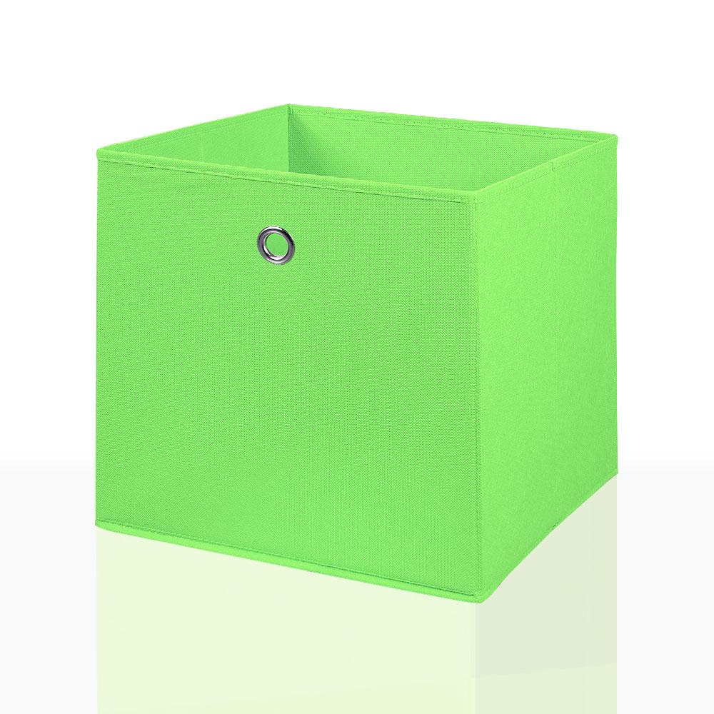 2er Set Faltbox in der Farbe Grün 34 x 34 cm Faltkiste Regalkorb Regalbox Kinderbox Einschubkorb Aufbewahrungsbox Stoffbox