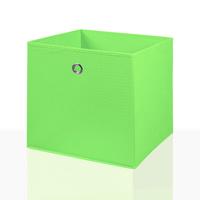 2er Set Faltbox in der Farbe Grün 34 x 34 cm Faltkiste Regalkorb Regalbox Kinderbox Einschubkorb Aufbewahrungsbox Stoffbox 001