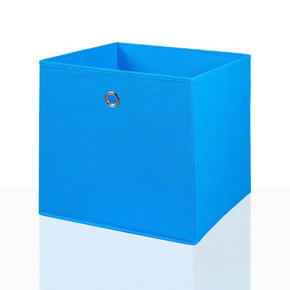 10er Set Faltbox in der Farbe Blau 32 x 32 cm Faltkiste Regalkorb Regalbox Kinderbox Einschubkorb Aufbewahrungsbox Stoffbox – Bild 1