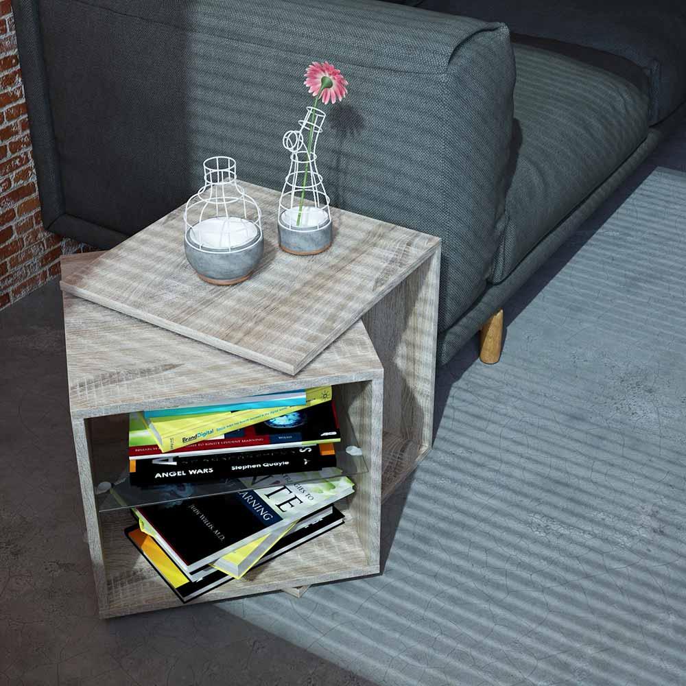 Rotating Tabel drehbarer Tisch verstellbar Drehtisch Couchtisch Beistelltisch Couchtisch Blumenhocker Nachtkommode – Bild 2
