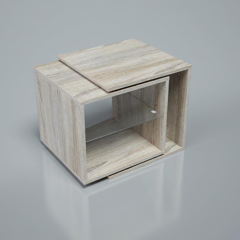 Rotating Tabel drehbarer Tisch verstellbar Drehtisch Couchtisch Beistelltisch Couchtisch Blumenhocker Nachtkommode – Bild 8