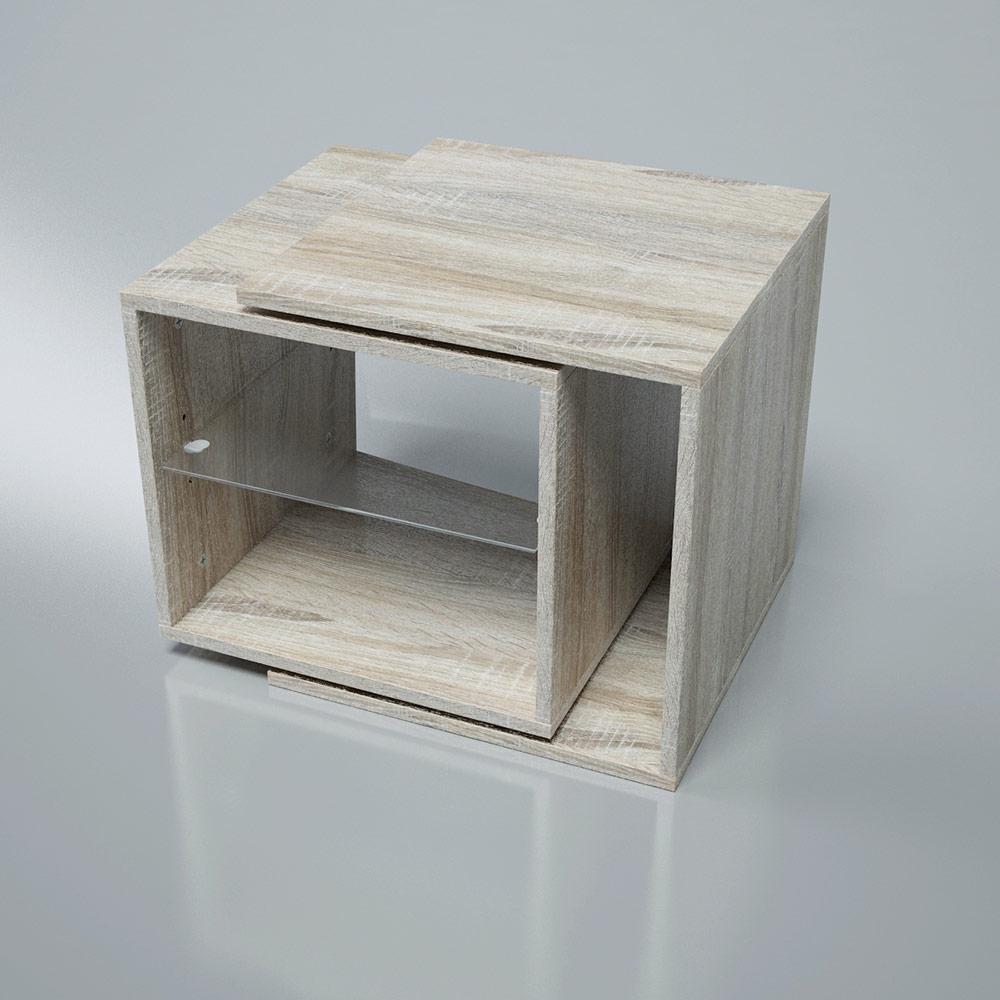 Rotating Tabel drehbarer Tisch verstellbar Drehtisch Couchtisch Beistelltisch Couchtisch Blumenhocker Nachtkommode – Bild 9