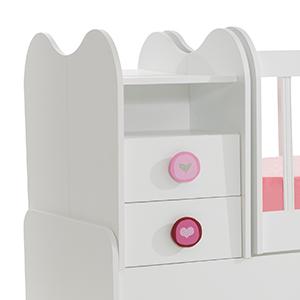mitwachsendes babybett kinderbett mit integrierter wickelkommode und wipp funkti ebay. Black Bedroom Furniture Sets. Home Design Ideas