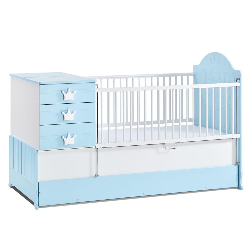 Mitwachsendes Babybett Little King mit absenkbarem Seitengitter von Mixibaby