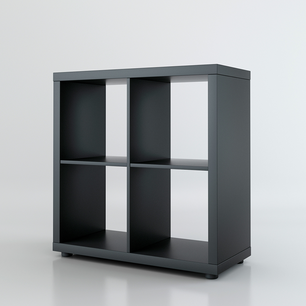 raumteiler mexx b cherregal regal weiss schwarz sonoma 4 f cher 2 x 2 ebay. Black Bedroom Furniture Sets. Home Design Ideas