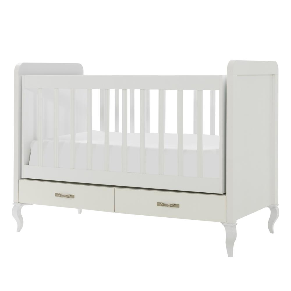 Mitwachsendes Babyzimmer Snowy mit Kommode, Kleiderschrank und Babybett mit Wipp-Funktion – Bild 3