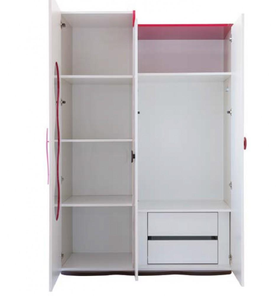mitwachsendes babyzimmer mit kommode 3 t rigem kleiderschrank und babybett mit wipp funktion. Black Bedroom Furniture Sets. Home Design Ideas