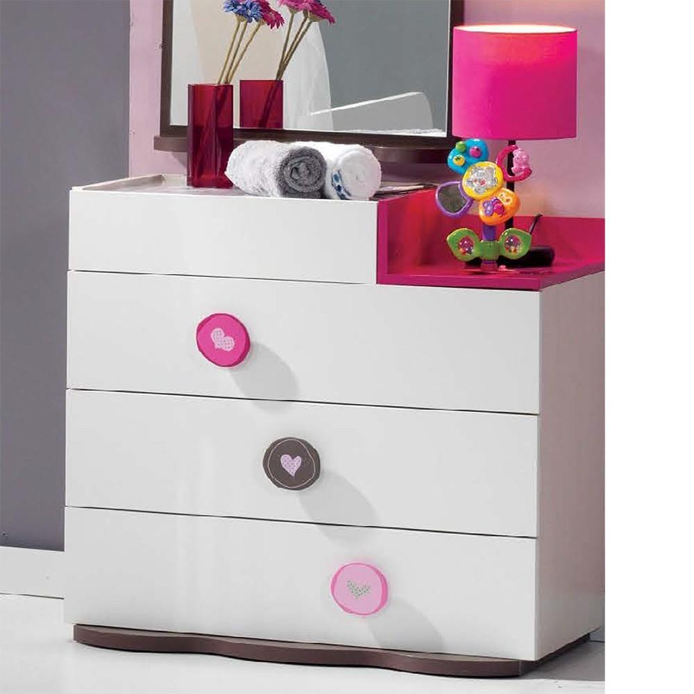 Mitwachsendes Babyzimmer mit Kommode, 3-türigem Kleiderschrank und Babybett mit Wipp-Funktion – Bild 3