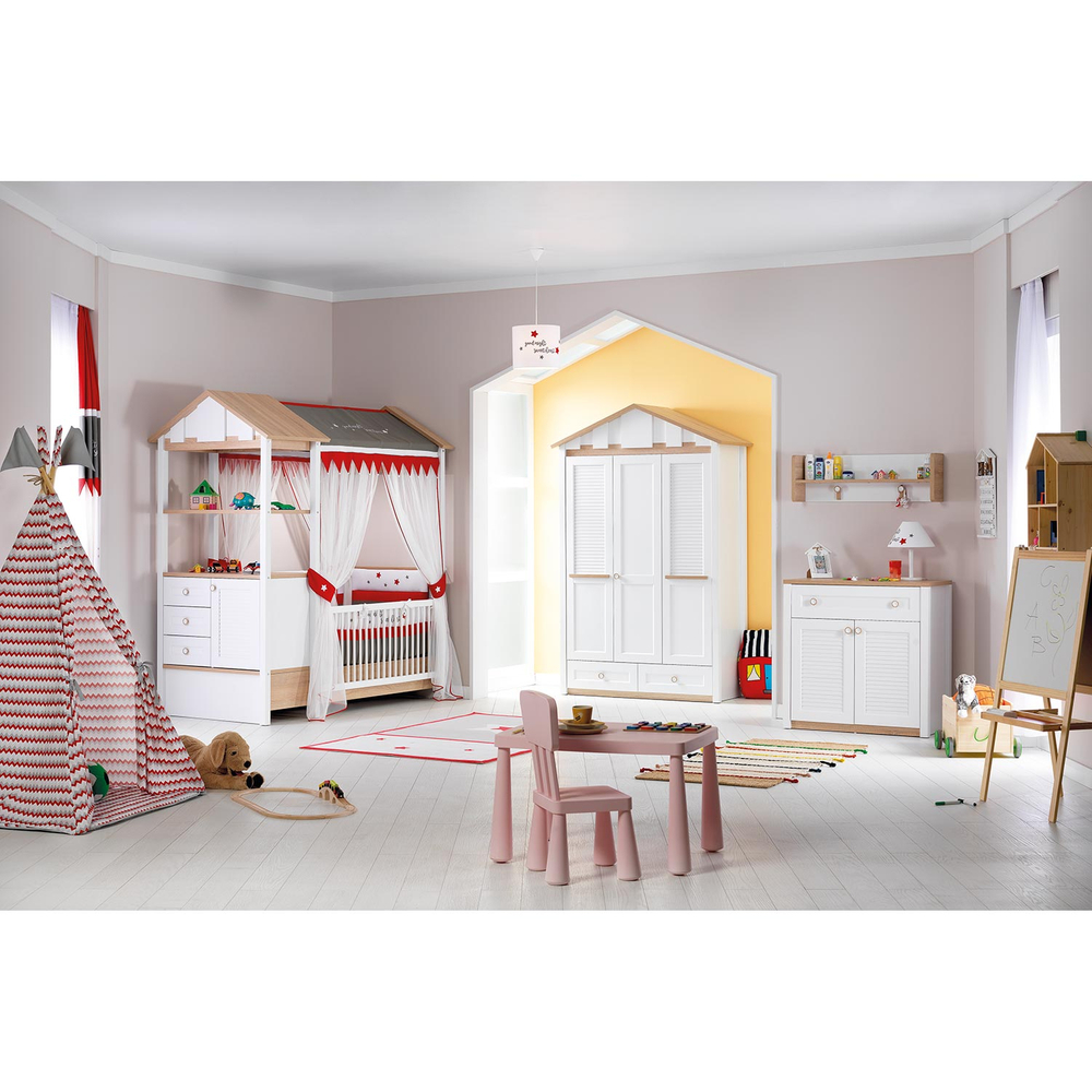 2in1 babybett kinderzimmer jugendzimmer kinderbett. Black Bedroom Furniture Sets. Home Design Ideas