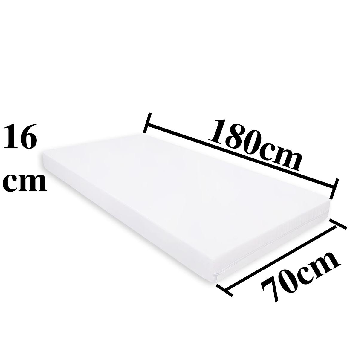 Matratze 70x180x16cm 80x190x16cm 90x190x16cm Kaltschaum – Bild 2