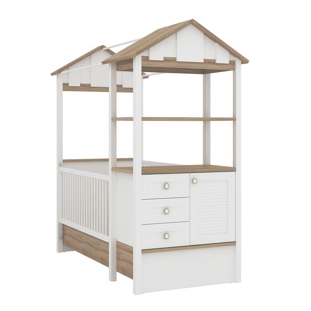 Möbel Komplettset Kinderzimmer Jugendzimmer Hausbett Kinderbett Treehouse Baumhütte Spielbett massiv – Bild 10