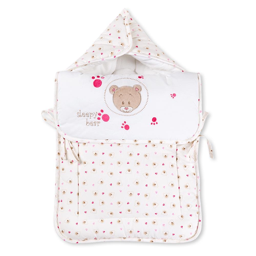 Babybettset Schlafsack Fußsack Krabbeldecke Bett-Tasche Lätzchen Wickelauflage  – Bild 13