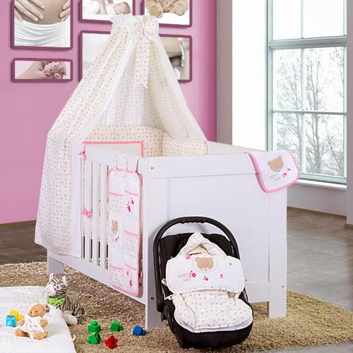 Babybettset Schlafsack Fußsack Krabbeldecke Bett-Tasche Lätzchen Wickelauflage