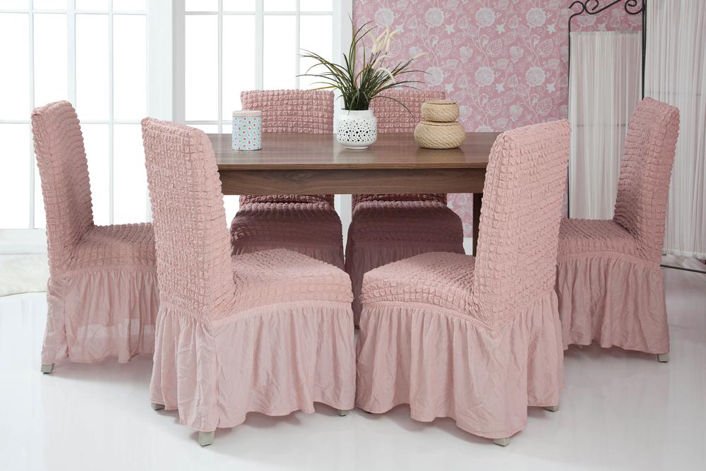 Lange Stretch Stuhlhusse Stuhlbezug Elastische Husse Dekoration Stuhl Husse aus Elastik-Stoff für universelle Passform – Bild 7