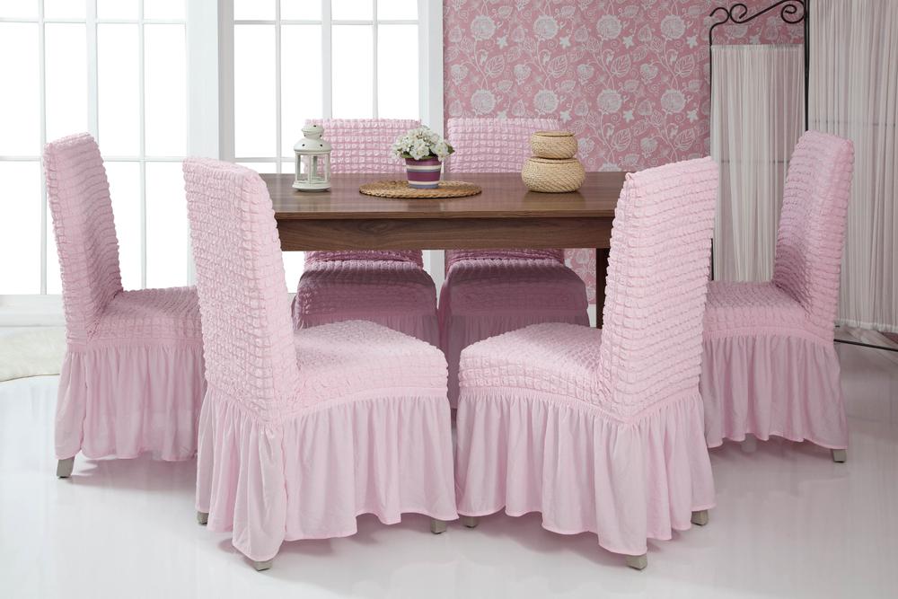 Lange Stretch Stuhlhusse Stuhlbezug Elastische Husse Dekoration Stuhl Husse aus Elastik-Stoff für universelle Passform – Bild 8