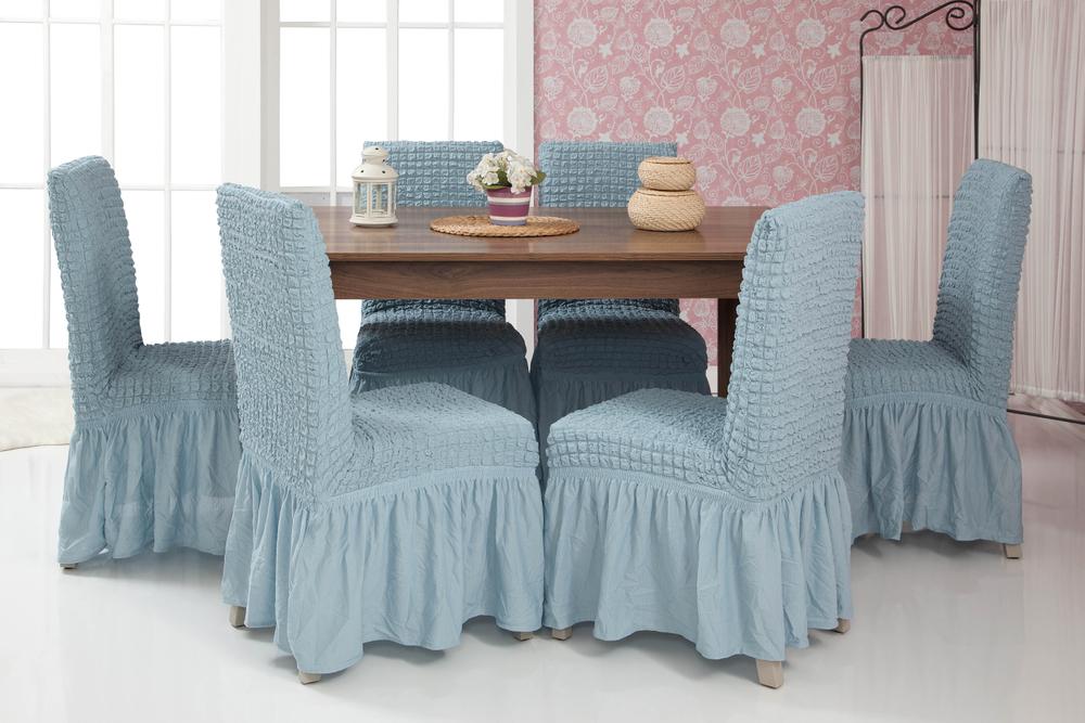 Lange Stretch Stuhlhusse Stuhlbezug Elastische Husse Dekoration Stuhl Husse aus Elastik-Stoff für universelle Passform – Bild 16