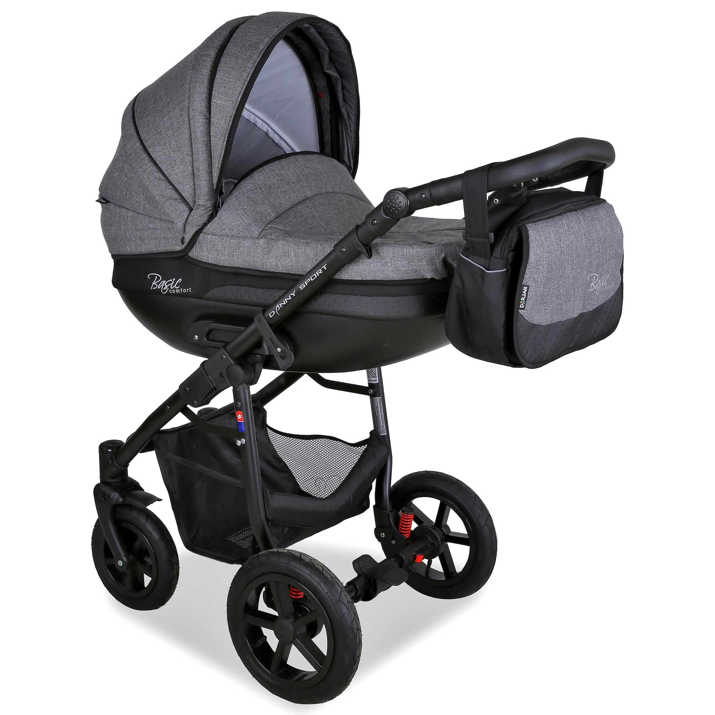 Kinderwagen Kombi 3-in-1 Alu Buggy Autositz Babywanne Babyschale  Multifunktiona
