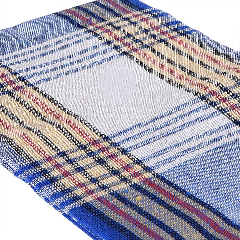 Saunatuch Saunakil Peshtemal Hammamtuch Strandtuch Lendentuch  Rot Blau 2er Set – Bild 9