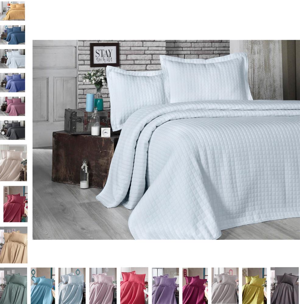 Bettüberwurf Steppdecke Tagesdecke Patchwork Kariert Bettdecke Decke Doppelbett – Bild 5