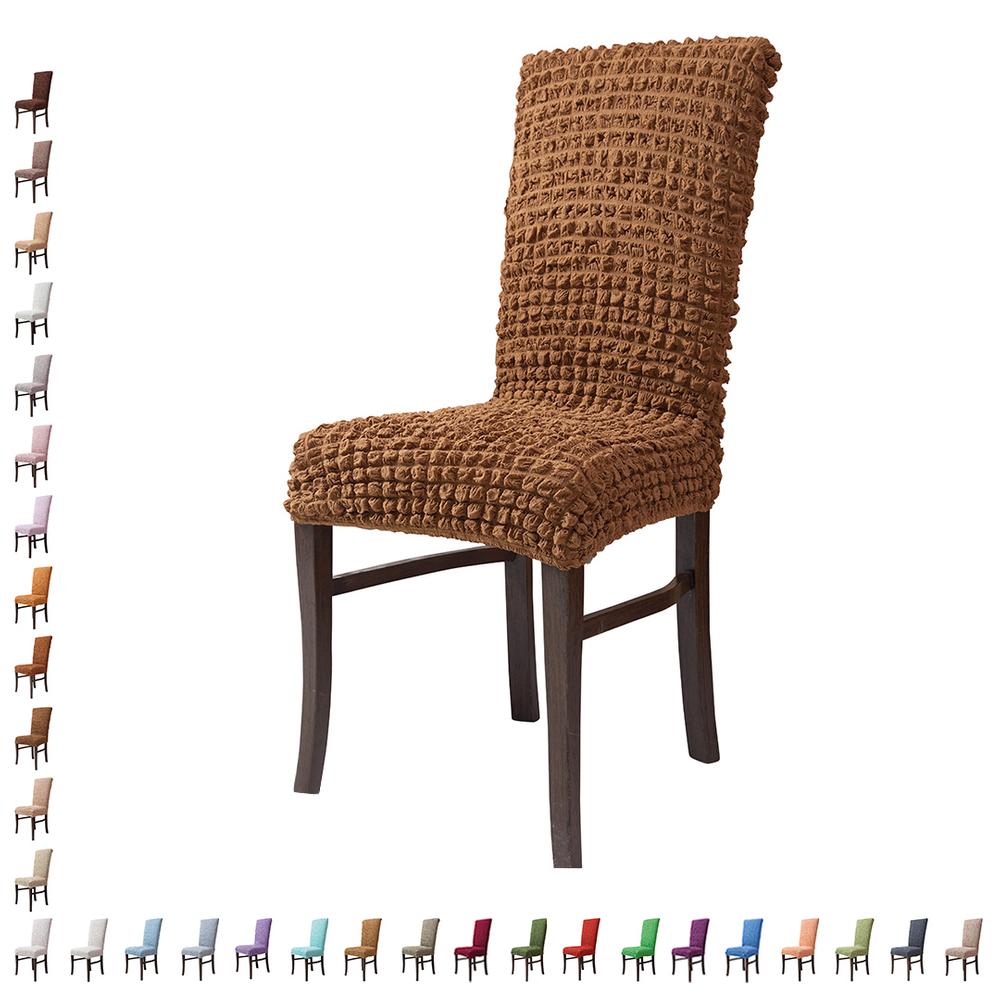 Fiora Stretch Stuhlhusse Stuhlbezug Elastische Husse Dekoration Stuhl Husse aus Elastik-Stoff für universelle Passform – Bild 12