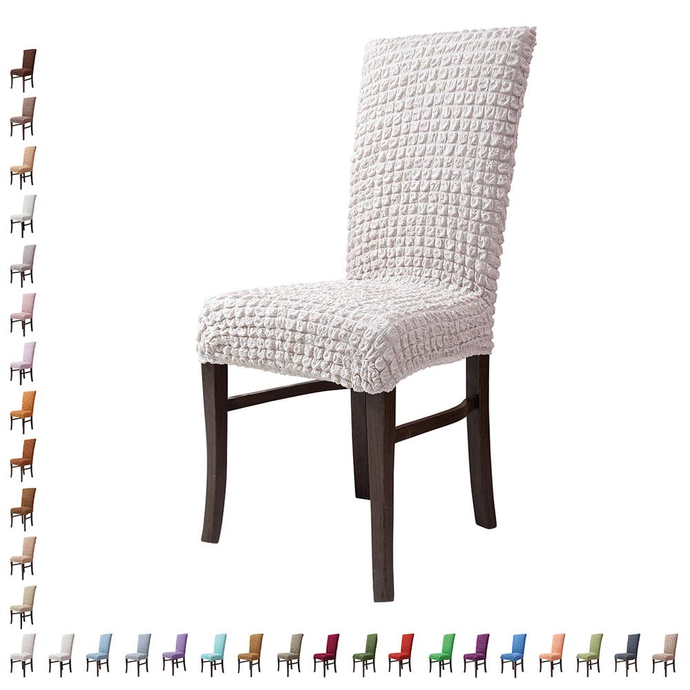 Fiora Stretch Stuhlhusse Stuhlbezug Elastische Husse Dekoration Stuhl Husse aus Elastik-Stoff für universelle Passform – Bild 15