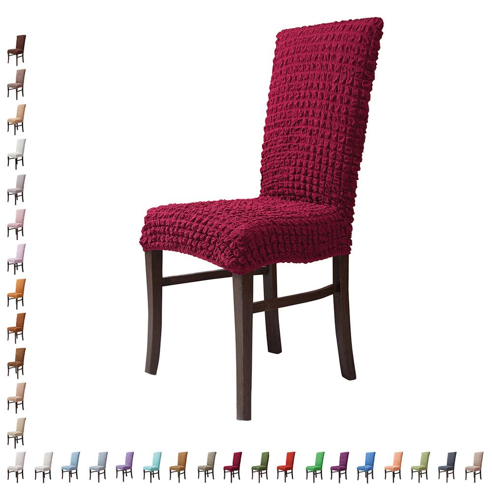 Fiora Stretch Stuhlhusse Stuhlbezug Elastische Husse Dekoration Stuhl Husse aus Elastik-Stoff für universelle Passform – Bild 23