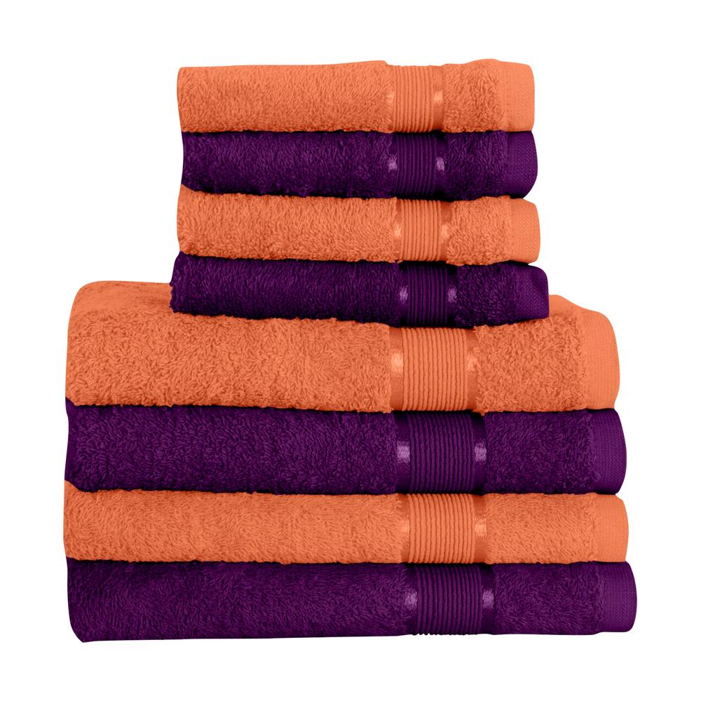 8 tlg. Handtuchset 4x Saunatuch 4x Handtuch Hellbraun mit Farbkombi – Bild 11