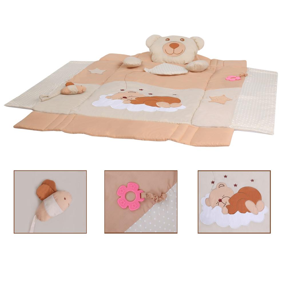 Krabbeldecke Erlebnisdecke Spieldecke Krabbeldecke Babygym Nestchen mit Spielbogen - 3 in 1  – Bild 12