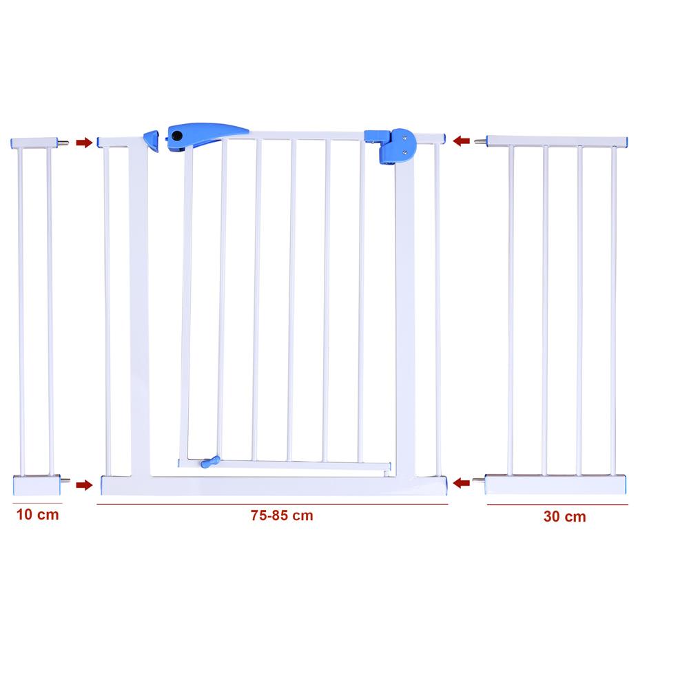 Treppenschutzgitter Türschutzgitter Absperrgitter 75-170cm Türgitter – Bild 11