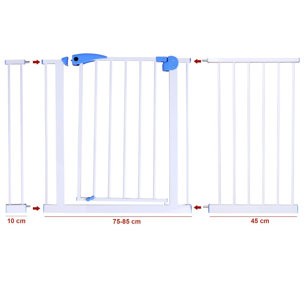 Treppenschutzgitter Türschutzgitter Absperrgitter 75-170cm Türgitter – Bild 21