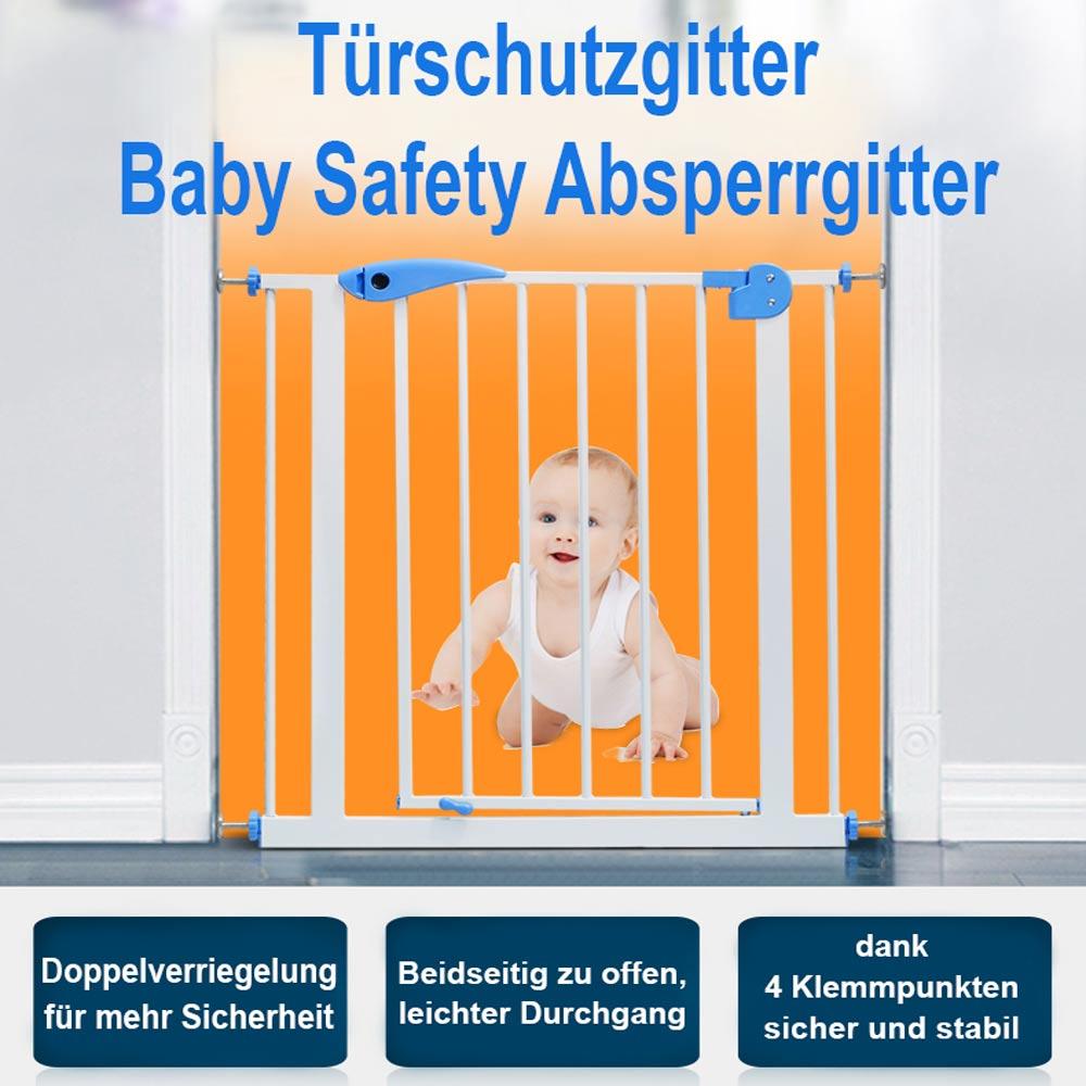 Treppenschutzgitter Türschutzgitter Absperrgitter 75-170cm Türgitter