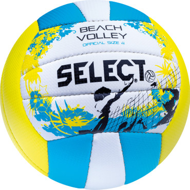 Select Beach Volley  -orange weiß gelb blau- Größe 4