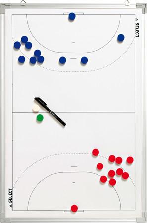 Select Taktiktafel Aluminium Handball -weiß- 90 x 60 cm