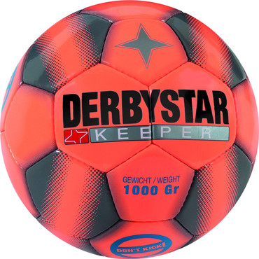 10er Paket Derbystar Keeper -orange grau orange- Größe 5