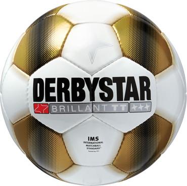 10er Paket Derbystar Brillant TT Gold -weiß gold- Größe 5