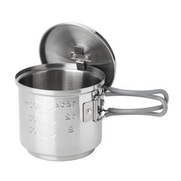 Esbit Edelstahl Trockenbrennstoffkocher 585ml – Bild 3