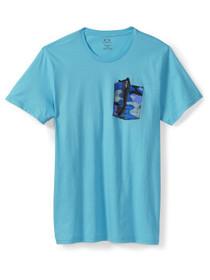 Oakley Shades in a Pocket Tee, illumination blue