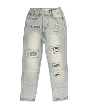 relish Jeans im Destroyed-Look - hellblau