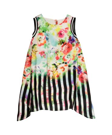 Loredana Kleid mit Blumenprint - bunt