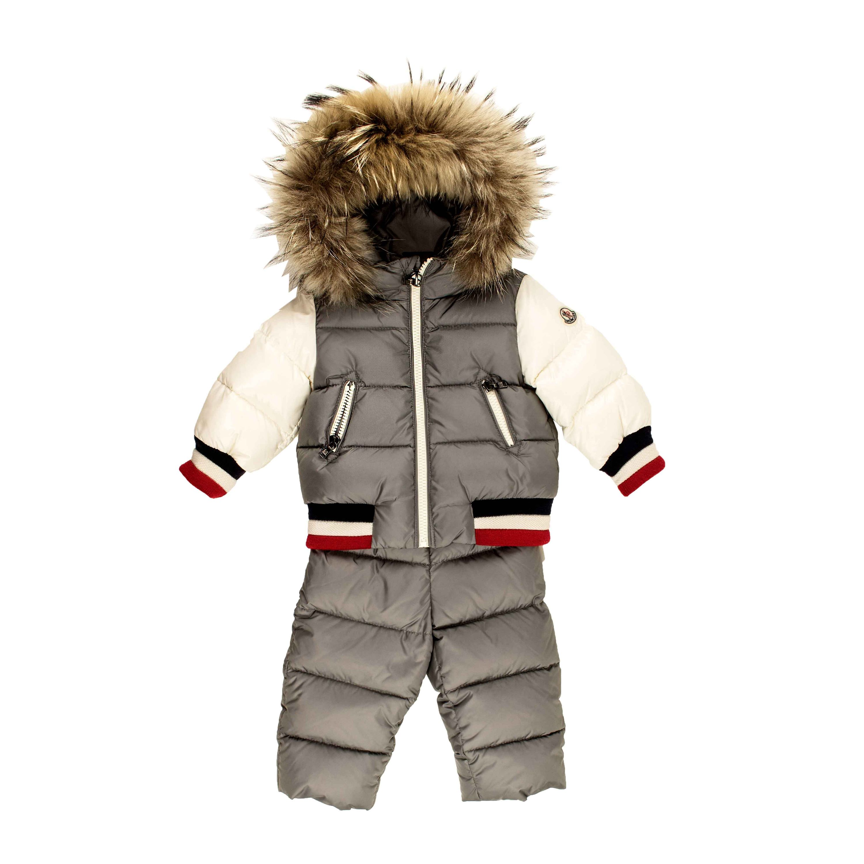 Details about Moncler Baby Boy Sanaz Schnee Anzug grau Jogginganzug Jacke Mantel NP €579,00