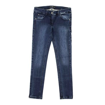 Miss Blumarine Jeans mit Strasssteinen - blau