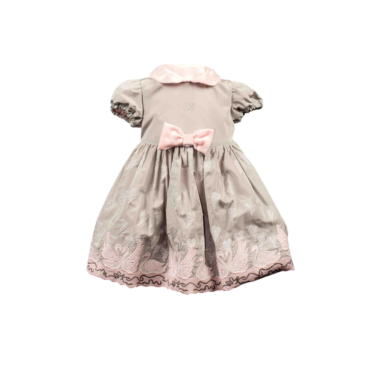Blumarine Baby Kleid - grau / rosa Baby Girls (0M - 2J ...