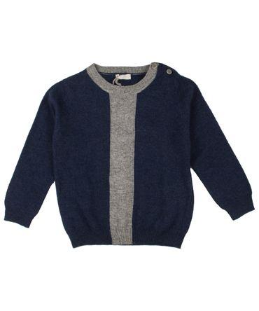 il gufo Pullover - blau/grau